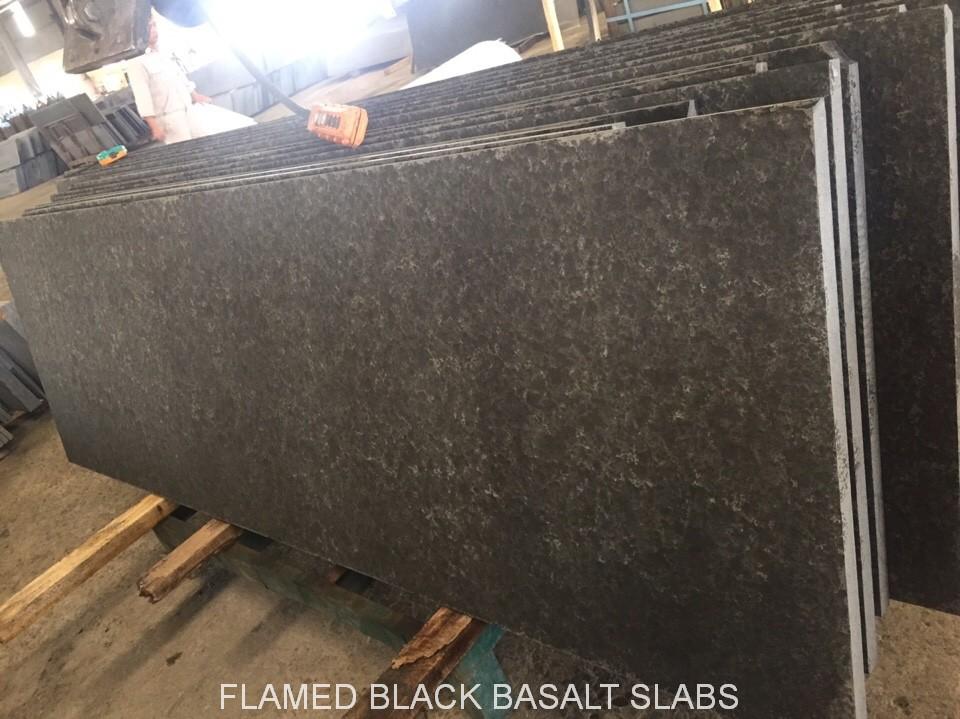 Polished Olivine Basalt : Basalt and granite
